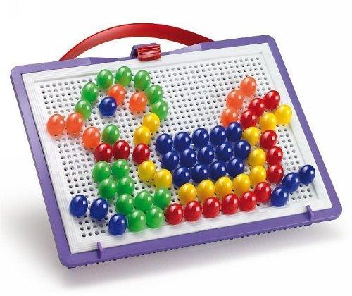 Quercetti 0923 - Mosaik-Steckspiel Fanta Color Portable Small, 100 Stecker 15mm