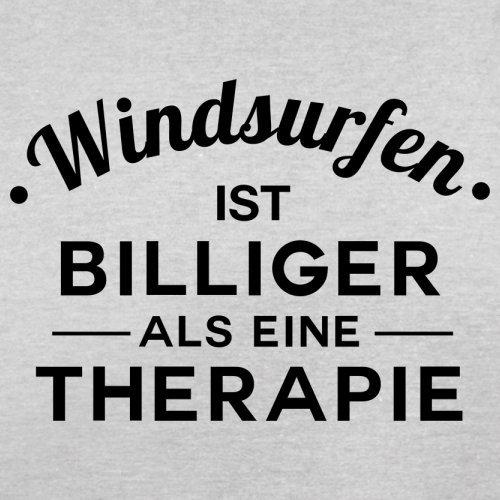 Windsurfen ist billiger als eine Therapie - Herren T-Shirt - 13 Farben Hellgrau