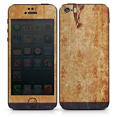 Apple iPhone 5c Case Skin Sticker aus Vinyl-Folie Aufkleber Retro Wand Streifen DesignSkins® glänzend