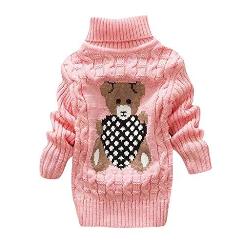 MCYs Kleinkind Kinder Baby Mädchen Jungen Bär Print Pullover Stricken Häkeln Tops Kleidung - Niedliche Bären Kostüm Frauen