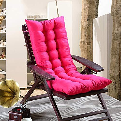 ZXY Outdoor Lounge Stuhlkissen,Terrasse Chaise Sitzkissen Volltonfarbe Matratze für Garten Liege Indoor Veranda-Rose Red 48x120cm(19x47inch) - Lounge Für Die Terrasse Chaise