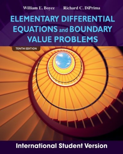 Elementary Differential Equations and Boundary Value Problems by William E. Boyce (4-Dec-2012) Paperback