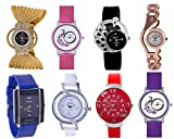 Shree Analog Multi Color Watch for Women and Girls - Combo of 8