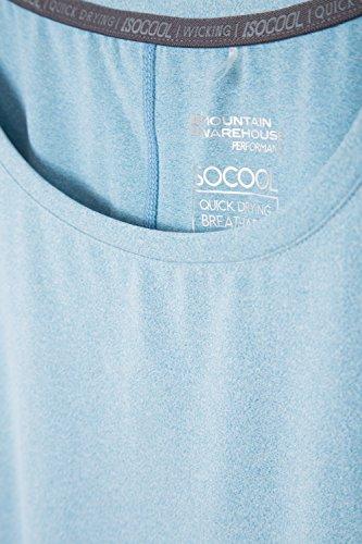 Mountain Warehouse IsoCool Dynamic Panna Lockeres Damen T-Shirt Blau