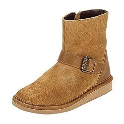 La Briza Women 5700 Tan Synthetic Boots 7 UK
