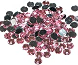 Pack of 1000 x Light Pink Crystal Flat Back Rhinestone Diamante Gems 5mm