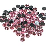 Pack of 1000 x Light Pink Crystal Flat Back Rhinestone Diamante Gems 3mm