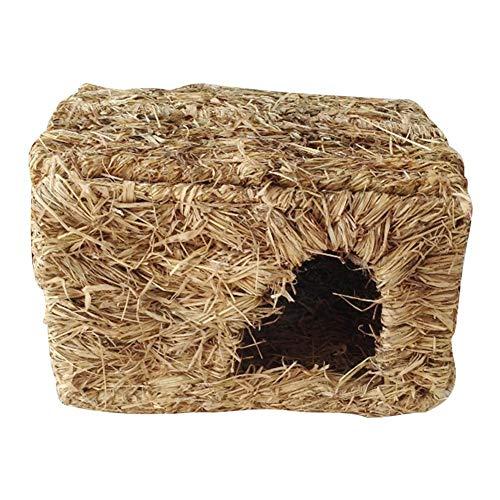 Ganmaov Coniglio Grass House Nido di Erba di Criceto Durevole Tunnel di Erba Intrecciata a Mano Capanna Nido per Dormire per Coniglio Criceto Cincillà Cavia e Altri Piccoli Animali Domestici Benefit
