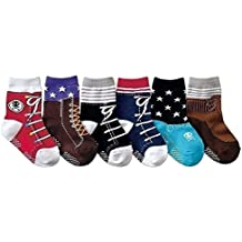 JT-Amigo 6er Pack Baby Jungen ABS Antirutsch Socken