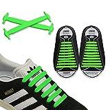 JANIRO Elastische Silikon Schnürsenkel – flexibler Schuhbänder Ersatz ohne Binden - Kinder & Erwachsene - 20 Stück - Grün
