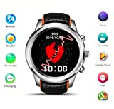 Smart Watch Android 5.1 MTK6580 Quad Core 1 GB / 8 GB 3G Wifi GPS Pulsmesser Handy Smartwatch Für Anroid Ios (Silber)
