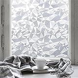 Fancy-fix Fensterfolie Dekorfolie Sichtschutzfolie Statische Folie Selbsthaftend (ohne Kleber) Milchglasfolie 60cm X 150cm