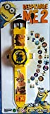 buycrafty Minions ME3Cartoon Bilder Projektor Armbanduhr Kinder Digitale Armbanduhr Cartoon Charakter Armbanduhr