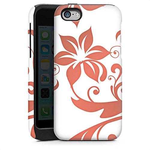 Apple iPhone 4 Housse Étui Silicone Coque Protection Fleurs Fleurs Vrilles Cas Tough brillant