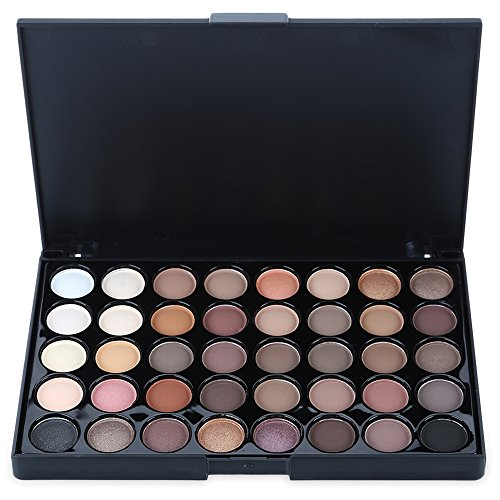 Fards à paupières Palettes SEARCHALL Eyeshadow Palette de maquillage Make-up Palettes Makeup Kit Set Eyeshadow Smoky Earth Tone Metallic 40 Colors Matte Glitter Shimmer Highlighter Contour Kit Cosmetique Kit High Pigment