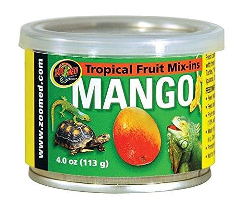 Zoo Med Tropical Fruit Mix-ins Mango 113g, 3er Pack, Ergänzungsfuttermittel