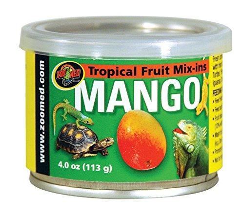Zoo Med Tropical Fruit Mix-ins Mango 113g, 3er Pack, Ergänzungsfuttermittel für Reptilien