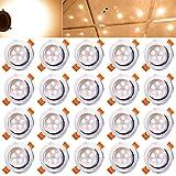 Hengda 5W LED Einbauleuchten Dimmbar Einbauspots für Wohnraum decke Wohnzimmer bad Küche Rund Leuchte Lampen Warmweiß 2800-3200K, 20er Set