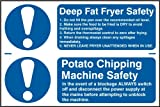 Spectrum Industrie 1.153,2cm Friteuse Sicherheit Kartoffel Absplitterungen Sicherheit, Selbstklebend, PVC, Mehrfarbig, 300x 200mm