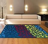 XMMGCDT Teppich Wohnzimmer Textilmatte des Abstrakten Teppichschlafzimmers Bunte Für Küchenboden Mattendecke des Wohnzimmerteppichs 3Dzuhause Dekoration,50 * 120Cm