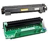Tambour et Toner Noir type TN1050 1000p et DR1050 10000p pour imprimante Brother MFC-1910W Certifcats ISO 9001 ISO 16170 - Visiodirect -