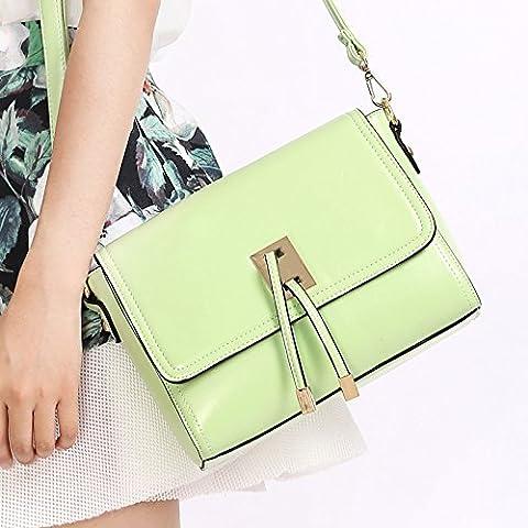 GQQ NUEVOS bolsos de hombro bolsos moda Dacron PU para la parte comercial y lugar de trabajo hasta 4 L GQ bolso @ , green mustard