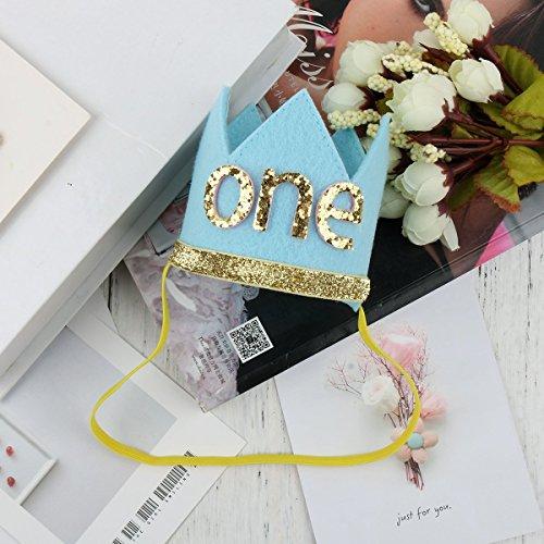 josep.h Baby Geburtstags Hut Glänzend Geburtstagskrone für Infant Junge Mädchen Geburtstagsdeko zu Party Fotografie