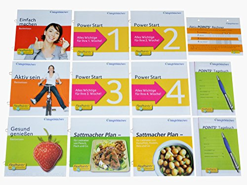 Weight Watchers Basiswissen (Gesund genießen) Sattmacher Broschüren Points Plan KOMPLETTSET 12teilig Ihr Start in eine Schlanke Zukunft Weight Watcher Punkte
