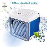 STLOVE Ventilador de Acondicionado Móvil 3 velocidades Interfaz USB Mini Aire Humidificador Enfriador de Escritorio Portátil para Casa/Oficina/Al Aire Libre/Coche/Camping