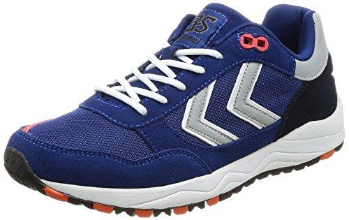 Hummel Unisex-Erwachsene 3S Sport Sneaker, Blau (Limoges Blue), 44 EU (Lifestyle-schuhe Schuhe, Erwachsenen)