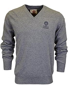 Franklin & Marshall Ca042lana V cuello SPORT gris suéter