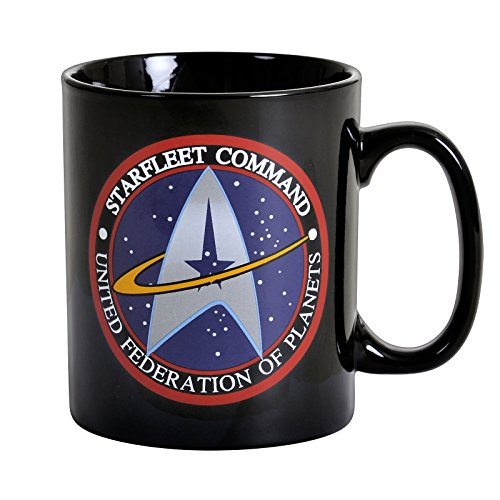Tasse Riesentasse 460 ml - Starfleet Command - United Federation Of Planets - Geschenkbox (Star Trek Enterprise Uniform)