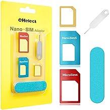 Adaptateur Carte SIM, Helect 5-en-1 Nano & Micro Carte SIM Converter Kit avec Outils Polonais Chip et éjecter Aiguille