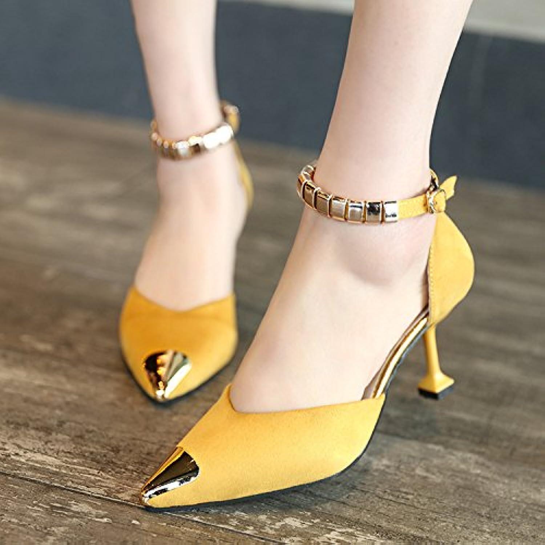 Zapatos de Mujer, Elegante, y el Extranjero con Amarillo 36