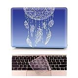 Coque MacBook Pro Occasion Prix - L2W Laptop Ordinateur Case Plastique Coque Rigide Housse pour Apple MacBook Pro Retina 15 pouces [Modèle:A1398] Incluant Transparent couvercle du clavier,Dreamcatcher Bleu