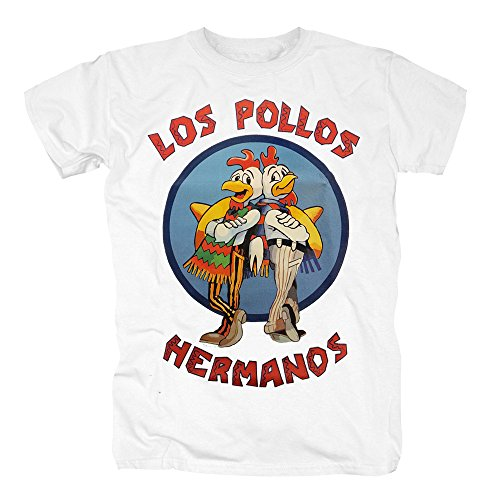 Hermanos Bad Breaking Pollos Kostüm Los - TSP Breaking Bad - Los Pollos Hermanos T-Shirt Herren S Weiß