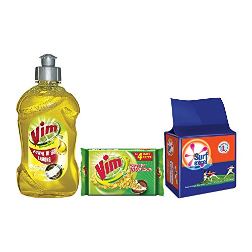 5625a3a6a31 Vim Dish Wash Lemon Gel 500 ml with Bar 200 g (Pack of 3)