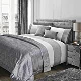 Siena Home Collection Sienna Glitzer Tagesdecke, SAMT, grau 130 x 200 cm, Polyester, Silber, large-130 X 200 cm