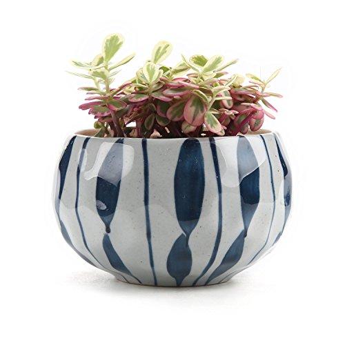 t4u-japonais-style-argile-serie-fleur-bleue-ceramique-pot-plante-recipient-pepiniere-pots-succulents