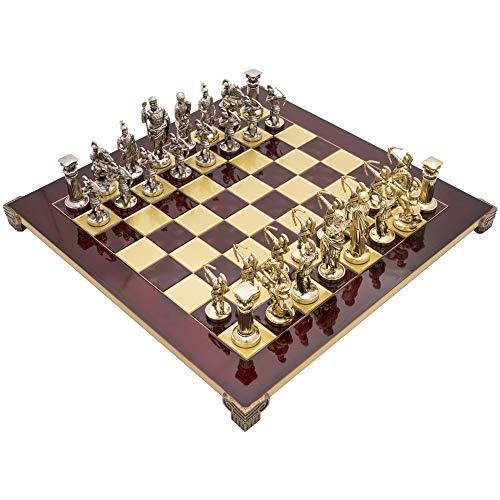 Manopoulos The Bogenschützen Luxus Schach-Set mit Holzkoffer