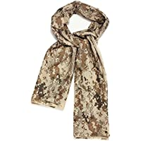 Dcolor Foulard Echarpe Cheche Cache-Col Camouflage Tactique Militaire Armee Police Moto Desert Digital