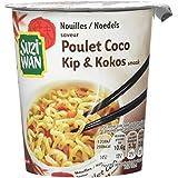 SUZIWAN Nouilles en Pot Saveur Poulet Coco 62 g - Pack de 8