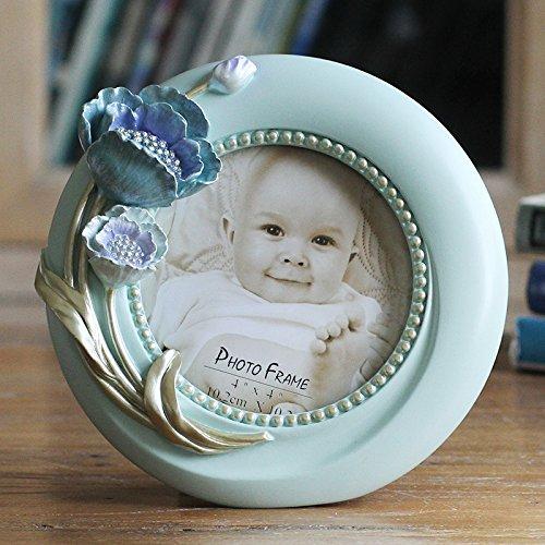 XBR décoration créative ameublement de maison _47 pouces ameublement de maison table studio photo fleurs tridimensionnelle,blue,l'argent de 6 pouces ovales