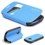Urcover Galaxy S3 mini Handyhülle Original View Hülle Case für das Samsung Galaxy S3 mini Schutzhülle Schale Etui Cover [DEUTSCHE MARKE] Hell Blau Version 2