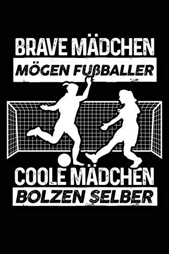 Coole Mädchen spielen Fußball: Notizbuch / Notizheft für Fußballerin Fußballspieler-innen Fußball-Fan A5 (6x9in) liniert mit Linien