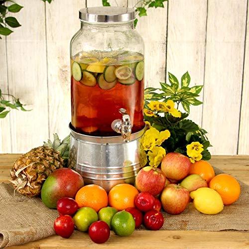 Mason Jar Bebidas Dispensador cubo hielo soporte 176