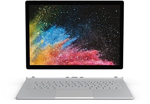 "Microsoft Surface Book 2 Portatile Ibrido (2in1), 13.5"" 3000 x 2000 Pixel Touchscreen, 1.9GHz i7-8650U, 8GB RAM, SSD 256 GB, Windows 10 Pro, Argento [Layout Tedesco]"