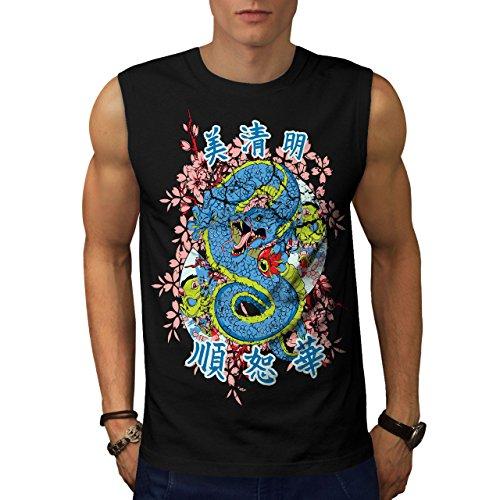 wellcoda Drachen Chinesisch Legende Männer 5XL Ärmelloses T-Shirt (Ärmellos Legende)
