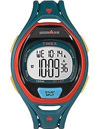c81d95f36c89 Timex Mens iron man INDIGLO élégant alarme chronographe vert foncé TW5M01400