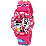 Disney Kids' W001524 Disney Minnie Mouse Watch with Pink 3D Plastic Band